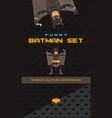batman theme collection vector image