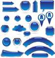 blue metal glass kolekcija bre vector image