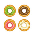 colorful donut colored icon set vector image