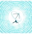 digital satellite dish vector image