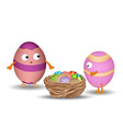 eggs in the nest vector image