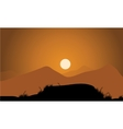 Golden sunset in the mountains vector image