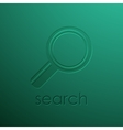 green background with magnifying glass vector image