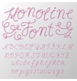 Monoline modern font script made by one line with vector image