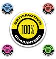 satisfaction guaranteed stickers vector image