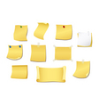 set of yellow note vector image