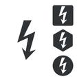 Voltage icon set monochrome vector image