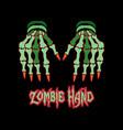 zombie hands vector image