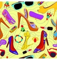 Womans accessory seamless pattern vector image