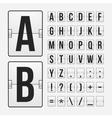 Scoreboard letters and symbols alphabet panel vector image