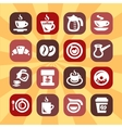 color coffee icons vector image