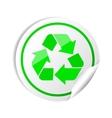 Sticker recycle symbol vector image