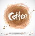 Grunge background with bright brown splash Coffee vector image