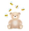 bear bees vector image vector image