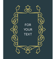 Linear monogram - frame for text vector image vector image