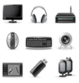 computer device icons vector image