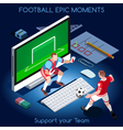 Football 01 People Isometric vector image vector image