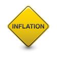 inflation warning vector image