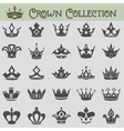 collection of crown silhouettes vector image vector image