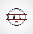 bali badge indonesia label theme vector image