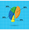 color pie chart with text and background grid vector image