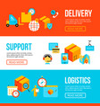 delivery and logistics web banners templates vector image