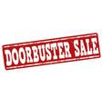 doorbuster sale stamp vector image