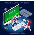 Football 01 People Isometric vector image