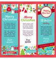 Happy New Year Invitation Template Flyer Set vector image