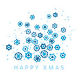 ice floral shaped abstract snow composition vector image