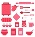icons collection on baking theme vector image