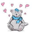 In love cute teddy bear vector image