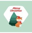 merry christmas animal character vector image