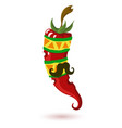 mexican chili pepper pepper vector image