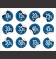 paper sale stickers collection vector image