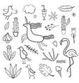 set of doodles images vector image
