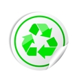 Sticker recycle symbol vector image