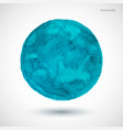watercolor-turquoise-blot vector image