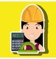 woman architecture calculator rule vector image