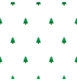 New Year tree simple seamless pattern vector image vector image