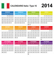 Calendar 2014 Italy Type 16 vector image vector image
