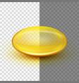 Translucent soft gel capsule eps 10 vector image