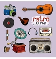 hipster style music and photo vector image vector image