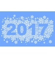 2017 background of snowflakes Number text of vector image