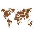World map in animal print design giraffe pattern vector image vector image