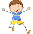 Boy running vector image vector image