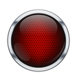 Red honeycomb icon ball vector image vector image