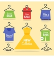 Clothing hangers SALE signage and banners vector image