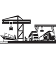 Cargo terminal scene vector image