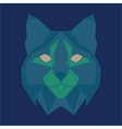 Green and blue low poly bobcat vector image